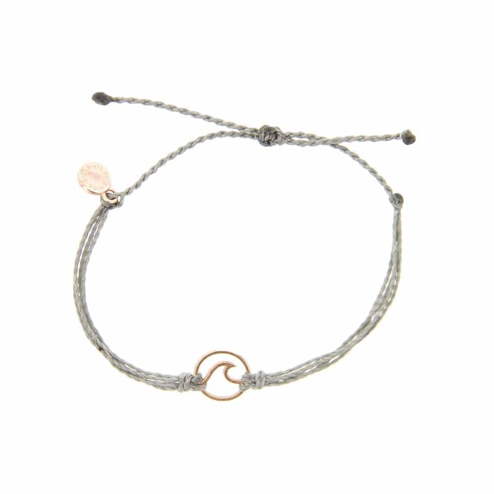 Pura Vida Rose Gold Wave OG Bracelet - Plated Charm, Adjustable Band - 100% Waterproof by Pura Vida