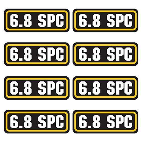 AZ House of Graphics 6.8 SPC Ammo Sticker 8 Pack (Best Caliber For Ar 15)