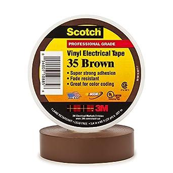 L Black  Vinyl  Electrical Tape W x 66 ft 3M  Scotch  3//4 in