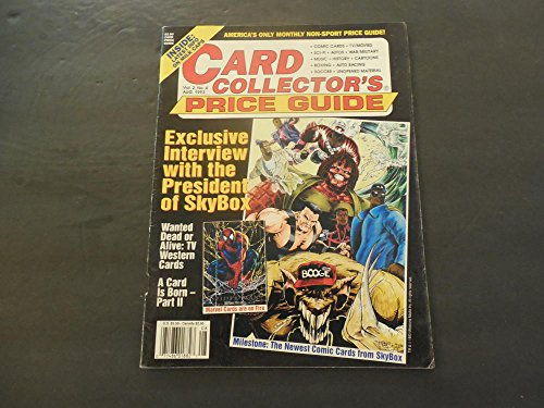 Card Collector's Price Guide Aug 1993 Marvel; SkyBox; TV/Movies