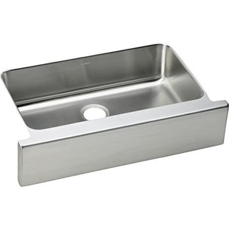 Elkay Lustertone ELUHFS2816 Single Bowl Farmhouse Stainless Steel ...
