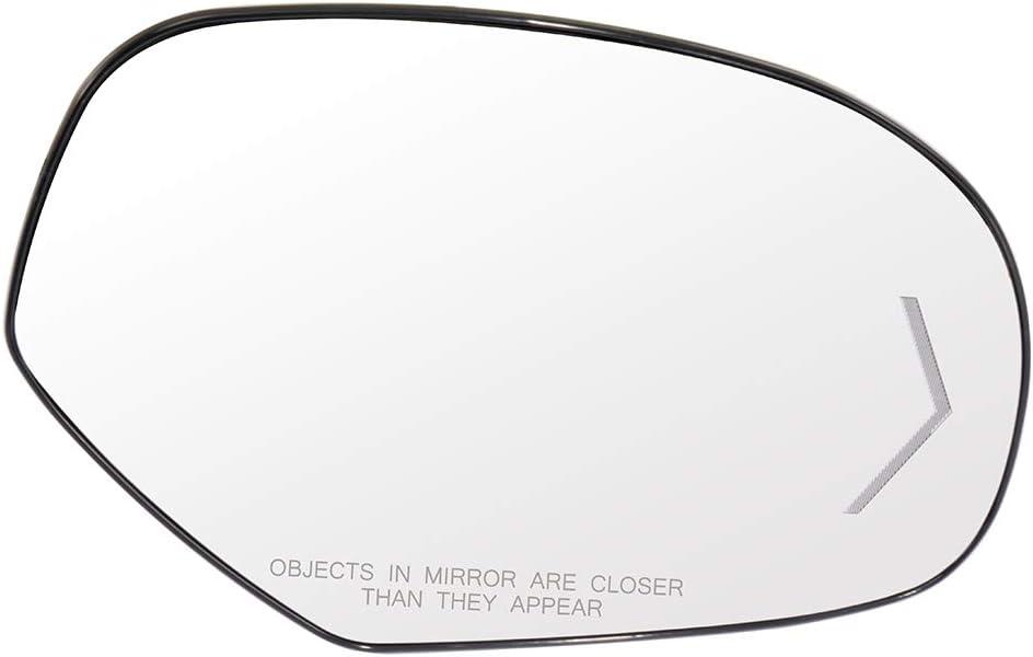 LUJUNTEC Right Side View Mirror Glass Fits for 2007-2013 Chevrolet Tahoe Avalanche GMC Yukon Cadillac Escalade ESV EXT 2007-2013 GMC Sierra Chevrolet Silverado Heated Turn Signal Arrow Light Convex