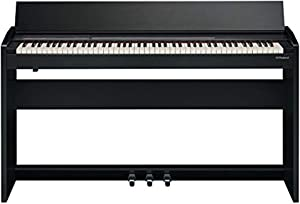 Roland F-140R Compact 88 Console Digital Piano with Bluetooth MIDI/USB and Weighted Hammer-Action Keyboard with Ivory Feel, Stereo Speakers, Key Cover, Contemporary Black Finish (F-140R-CB)