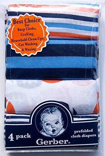 Gerber Prefolded Cloth Diapers Pack