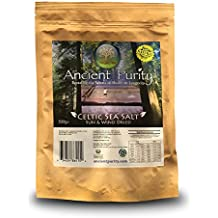 Celtic Sea Salt Natural Real Grey Salt Heart Health (No Magnesium Removed) by Ancient Purity