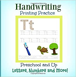 Handwriting Printing Practice: Preschool and Up: Letters ...