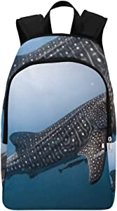Philippine Whale Shark Casual Daypack Travel Bag College School Backpack for Mens and Women