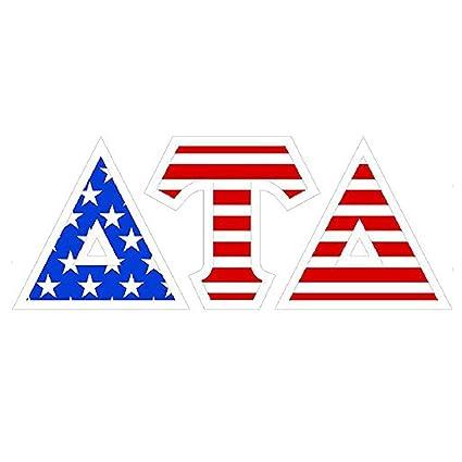 Amazon Delta Tau Delta Dtd American Flag Greek Letter Sticker