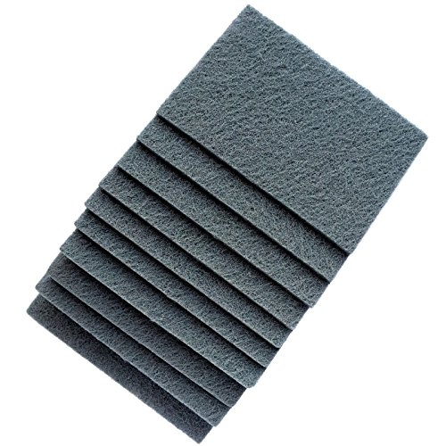 Perfect Sanding Supply by Abrasive Resource 6 Inch x 9 Inch Non Woven Scuff Hand Pads - Gray Ultra Fine (20 Pack, Grey) ()