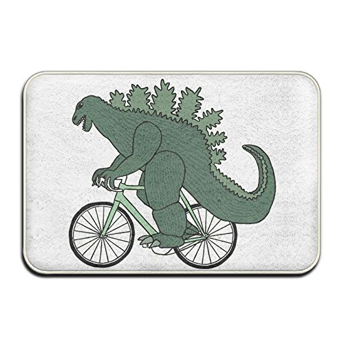 Titans Mother Cute Dinosaur Ride Bike Soft Doormat Entrance Mat Floor Mat Rug Indoor/Outdoor/Front Door/Bathroom Mats Rubber Non Slip