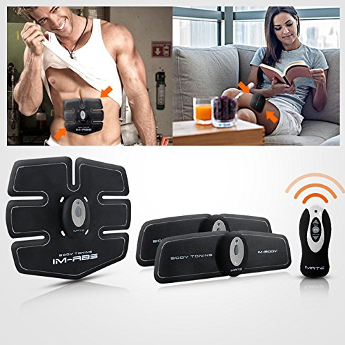 Cszlove Wireless ABS Toner Body Muscle Trainer Electronic Muscle Stimulation Fitness System ABS Fit Body Fit Arm Body Massager for Men - White by Cszlove (Image #5)