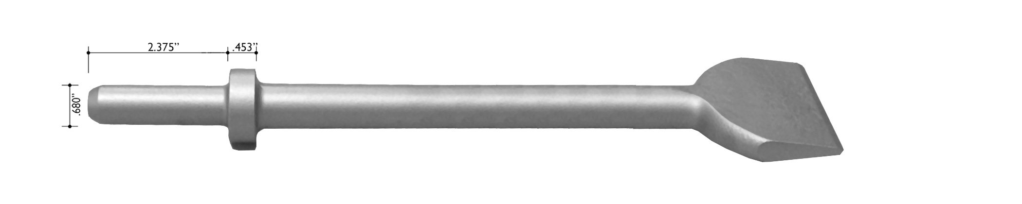 Champion Chisel, 9-Inch Long by 3-Inch Wide .680 Round Shank Round Collar Chipping Hammer Chisel