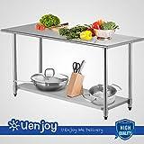 Hansentus Kitchen Restaurant Work Prep Table Stainless Steel 30'' x 72''