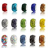 50p Charms Beads Fit Sterling 925 Necklace European Charm Bracelet Chain #Q252