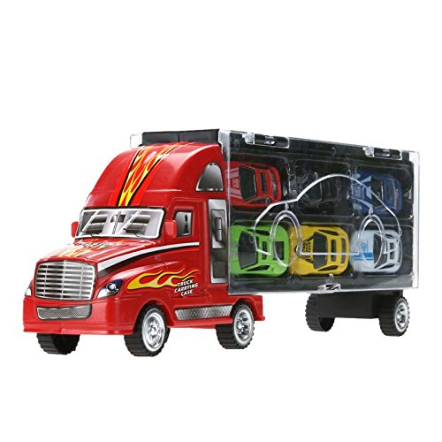 vinmax Truck Sets Alloy Transport Car Carrier Toys 13 Pcs / Set Children Birthday New Years Gaming Play Toys Gifts by vinmax (Image #3)