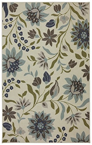 Mohawk Home Woodbridge Clarita Floral Printed Area Rug, 5' x 8', Blue
