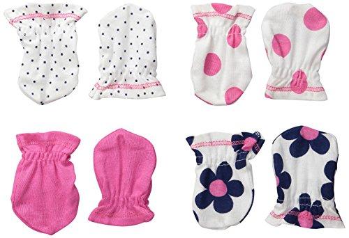 Gerber Baby-Girls Mittens, Flowers, 0-3 Months (Pack of 4)