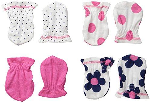 Gerber Baby-Girls Mittens, Flowers, 0-3 Months (Pack of 4) (Baby And Infant)