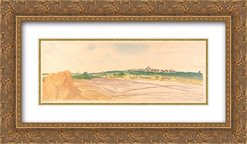 Theophile Steinlen 2X Matted 24x14 Gold Ornate Framed Art Print 'Color Litho Landscape'