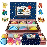 Kids Bath Bombs with Toys Inside - All Natural w/Shea Butter and Essential Oils. Gentle and Kid Safe, Gender Neutral, Bubble Bath Fizzies with Surprise Inside. Valentines Gift Set for Girls and Boys