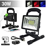 Tools & Hardware : ETOPLIGHTING 30W Portable LED Emergency Flood Light, Camping Light, Work Light, Emergency SOS Function Flashers and Two USB Port Power Bank, 36 LED Beads, APL1718