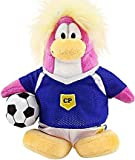 Disney Club Penguin 6.5 Inch Series 8 Plush Figure Girl Soccer Player Includes Coin with Code!