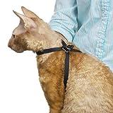 "Top Performance TP18120 Nylon Adjustable Cat Grooming Harness, 1/2"", Black"
