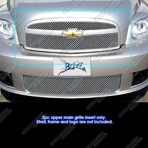 APS Compatible with 2006-2010 Chevy HHR SS Stainless Steel X Mesh Grille Insert CX6941S