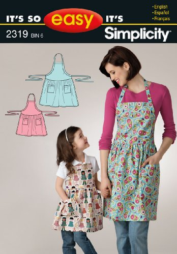 Simplicity Sewing Pattern 2319 It's So Easy Misses' and Child's Apron, A (S - L / S - L) ()