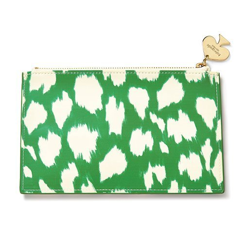 - Kate Spade New York Pencil Pouch - Painterly Cheetah (Ika) Green
