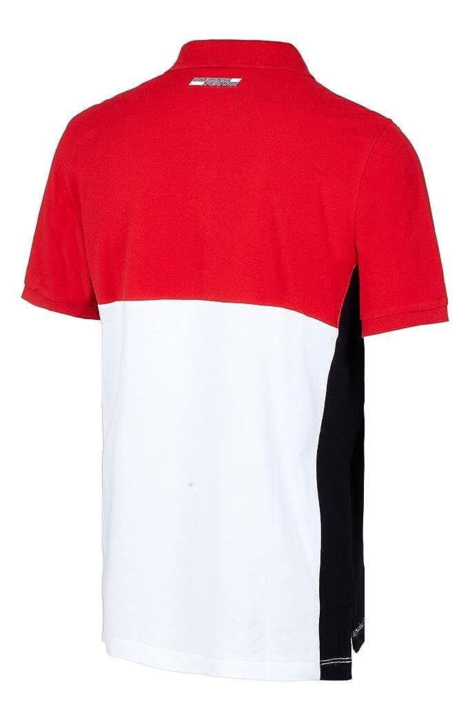 Scuderia Ferrari Mens Formula 1 Authentic Mens Red Cut and Sew Polo