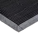 "Durable Heavy Duty Rubber Fingertip Outdoor Entrance Mat, 24"" x 32"", Black"