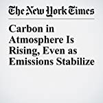 Carbon in Atmosphere Is Rising, Even as Emissions Stabilize | Justin Gillis