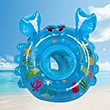 Baby swimming Ring Carton Crabs Baby Pool Float Ring Seat Boat with Baby Swimming Ring Swim Safety Handles Kids Toddler with Environmentally Friendly Materials