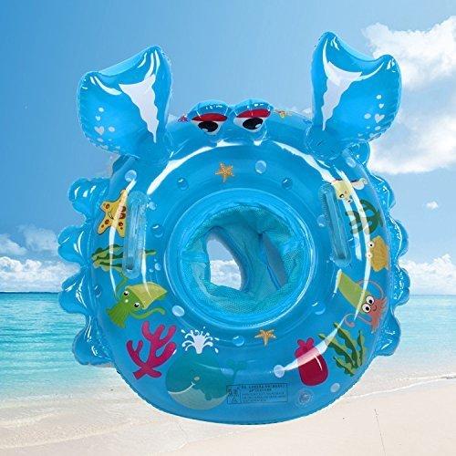 (Baby swimming Ring Carton Crabs Baby Pool Float Ring Seat Boat with Baby Swimming Ring Swim Safety Handles Kids Toddler with Environmentally Friendly Materials)