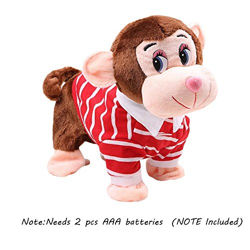 KateDy Electric Leash Dog Plush Toy Dog Tedder Dog Music Robot Dog Remote Children's Toys Pet Dog Walking Birthday Christams Gift