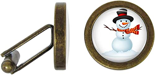 Winter Snowman Cufflinks