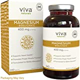 Viva Naturals Magnesium Bisglycinate Chelate: Highest Level of Absorption, 400mg Elemental Magnesium per Serving, 240 Tablets