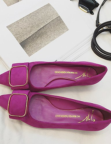 GGX/ Damen-High Heels-Kleid-Wildleder-Blockabsatz-Komfort / Spitzschuh / Geschlossene Zehe-Schwarz / Lila purple-us6.5-7 / eu37 / uk4.5-5 / cn37