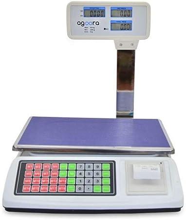 Bascula Comercial 50kg/2g Con Ticket, Plataforma de Acero ...
