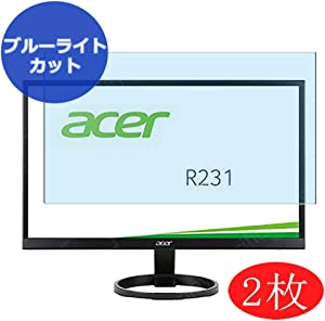 """【2 Pack】 Synvy Anti Blue Light Screen Protector Compatible with Acer R1 R231 R231bid / R231bmid 23"""" Display Monitor Screen Film Protective Protectors [Not Tempered Glass]"""