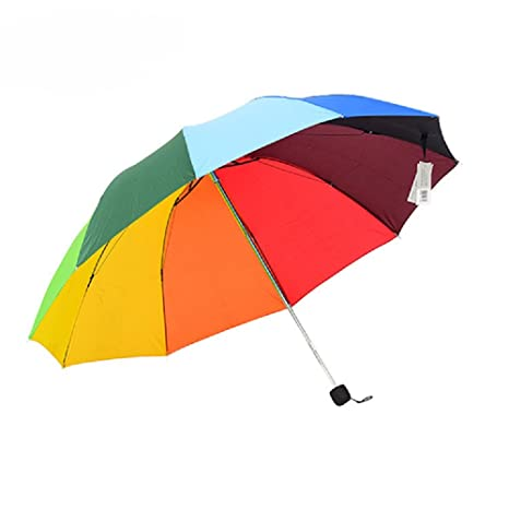 Yqdayshow A partir de las gafas de sol plegables resistente portátil Paraguas Viaje paraguas paraguas grande
