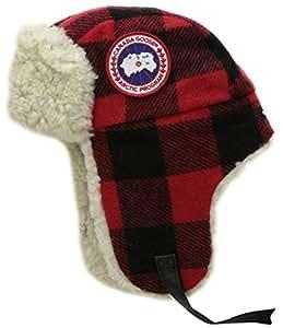 Canada Goose Merino Wool Shearling Pilot Hat, Buffalo Plaid, Small/Medium