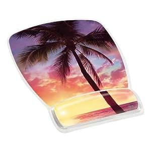 3M Mouse Pad with Gel Wrist Rest, Sunrise Design (MW308SR)