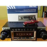 1968-1976 Chevrolet Corvette 300 watt USA-740 AM FM Car Stereo/Radio with built-in Bluetooth, AUX Inputs, Color Change LCD Digital Display