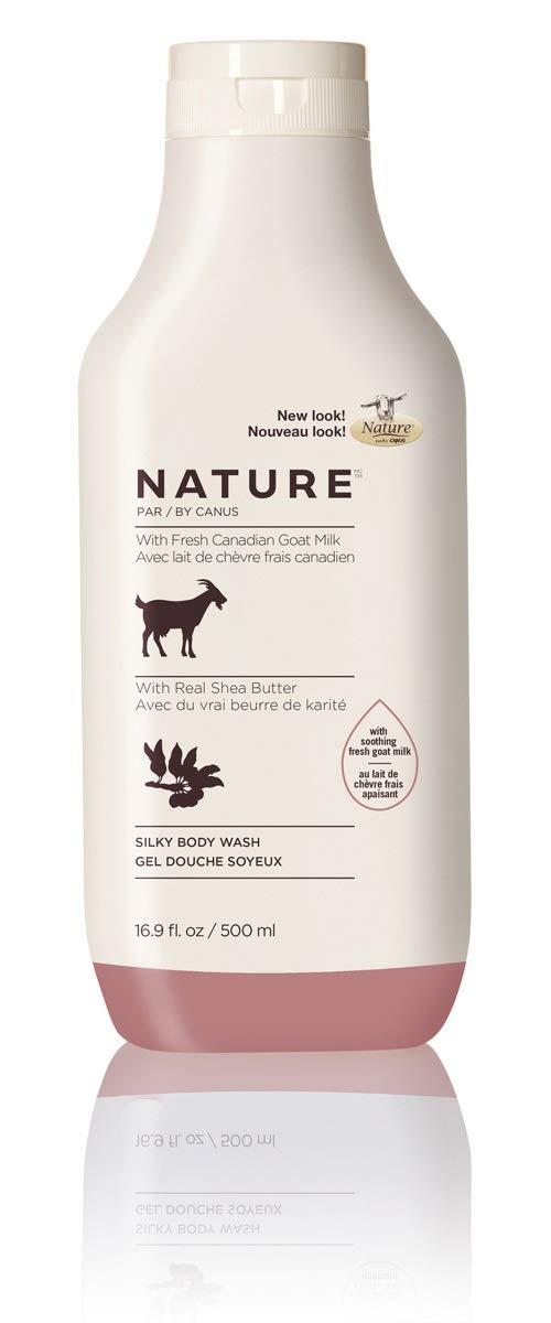 Nature By Canus Fresh Goats Milk Body Wash, Shea Butter, 16.9 Oz