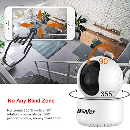 WiFi Camera Indoor, Wireless Security Cameras with 32GB Micro SD Card, Smart Auto Humanoid Tracking 2.4ghz 1080P Night Vision IP Dome Camera with 2 Way Audio for Home Security for Baby, Dsafer