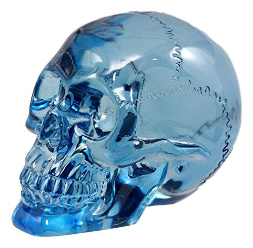 Ebros Gift Pirate Cave Tomb Treasure Blue Translucent Skull Figurine Decorative Statue Acrylic Resin ()