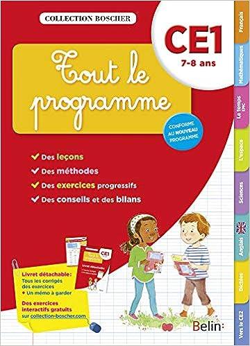 Amazon Com Tout Le Programme Ce1 Cahier Edition 2016 Cahier D Entrainement Boscher Tout Le Programme French Edition 9782701198262 Collectif Books