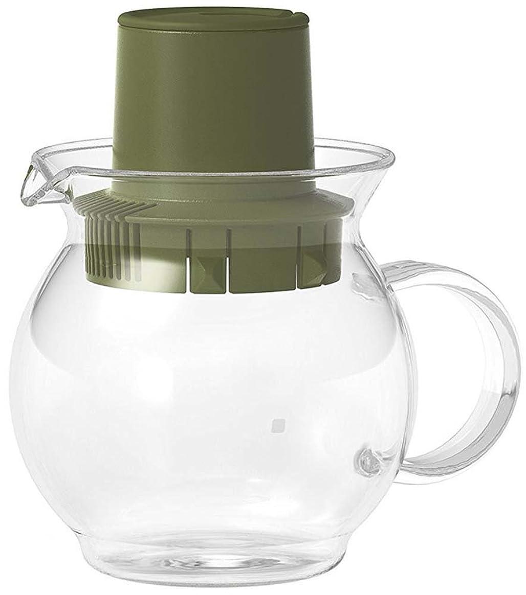 第リングパーチナシティZDZDZティーポット おしゃれ ガラス急須 紅茶 麦茶 緑茶